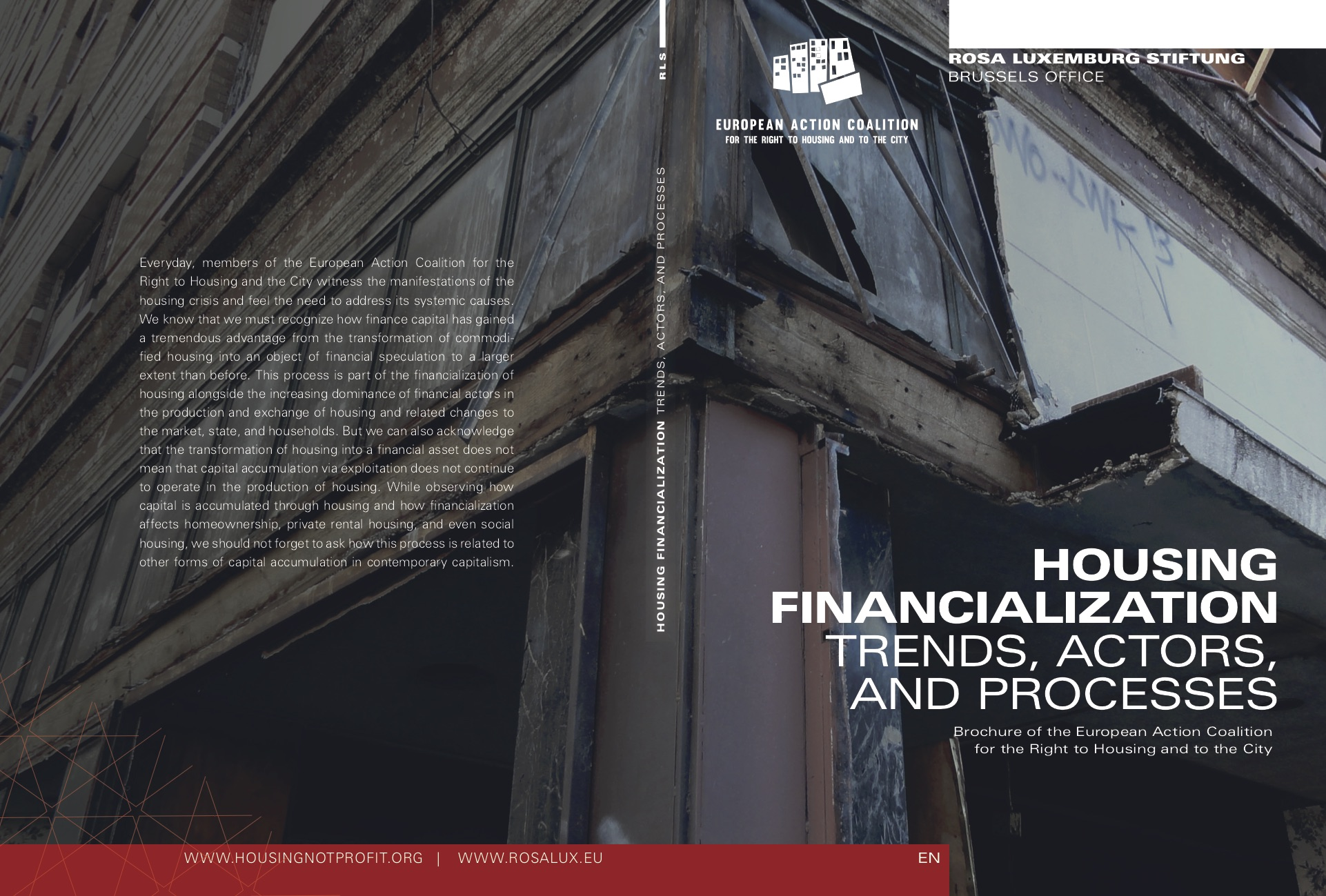 HOUSING FINANCIALIZATION. TRENDS, ACTORS, AND PROCESSES cover