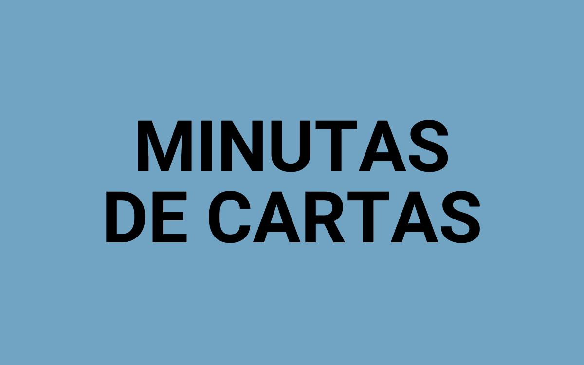 BOTÃO MINUTAS DE CARTAS