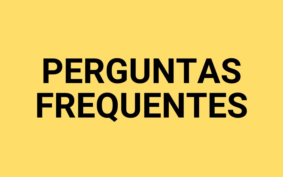 BOTÃO PERGUNTAS FREQUENTES